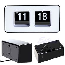G104 Free Shipping Retro Flip Classic Stylish Desk Auto Modern Wall Clock