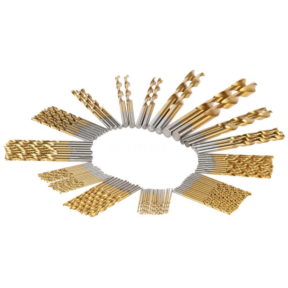 4mm diamond twist drill bit - Binoax 99 Pcs Hss High Speed Steel 1 5mm 10mm Manual Twist Drill Bits Titanium