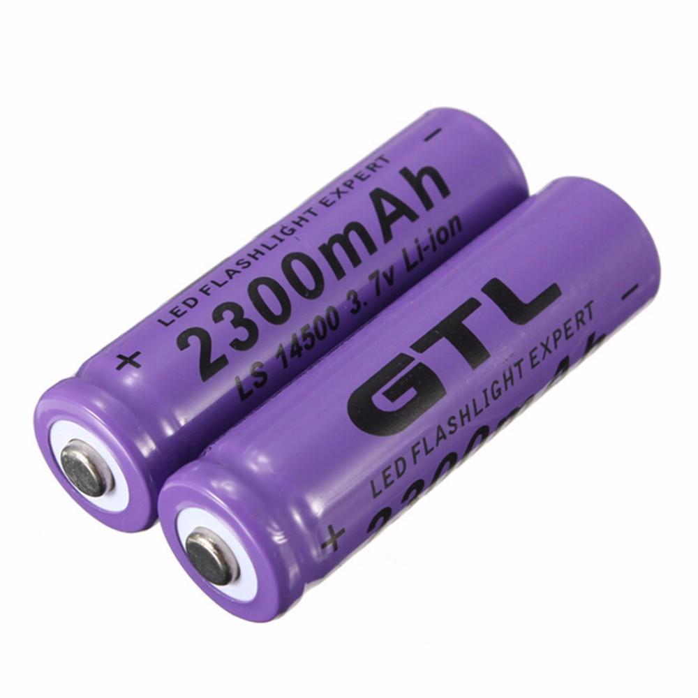4pcs 3 7v 2300mah 14500 Aa Li Ion Rechargeable Batteries