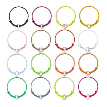 Trendy Style Factory Price Colorful Color Size Adjustable Elastic Bracelets, Can Put 3 Charm Pendants Free Shipping TMS-MBR002-9(China (Mainland))
