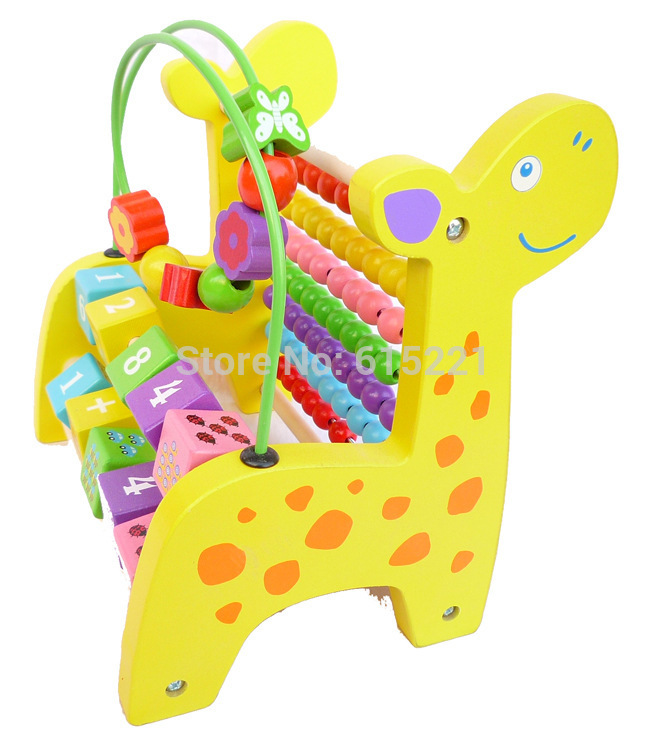 Baby Toys Wooden Eeducational Toy Animal Beads Maze of Calculation Baby Early Learning Math Toys Free Shipping Gift WD019<br><br>Aliexpress