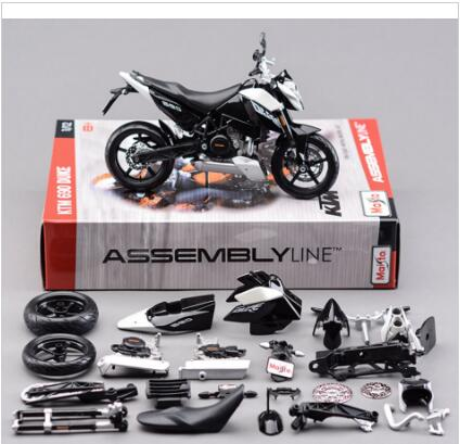 1:12 Mini Moto Diecast Motorcycle DIY Assembly KTM 690 Duke 3 Model Kit Maisto Diecast Metal Autocycle Toys Gifts For Children D(China (Mainland))