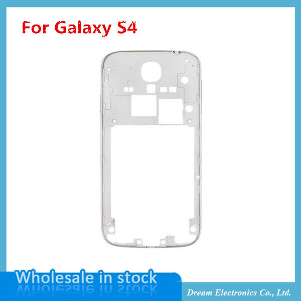 10pcs/lot Middle Plate Frame Housing with volume and Power button for Samsung Galaxy S4 i9500 i9505 i337 white housing(China (Mainland))