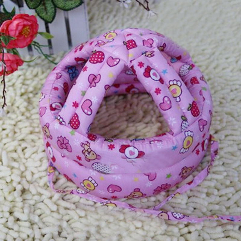 2016 New Arrival Pink 1pc New Child Safety Helmet Headguard Baby Hats Baby Safety Cap Adjustable Gift 45-53 cm(China (Mainland))