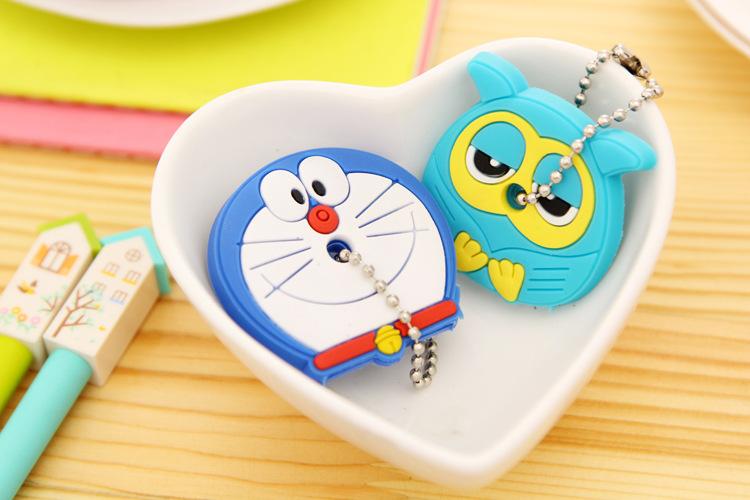 Cartoon Anime beautiful Silicone hello Kitty and Minnie key fashion owl key cover key chain key ring keychain women present