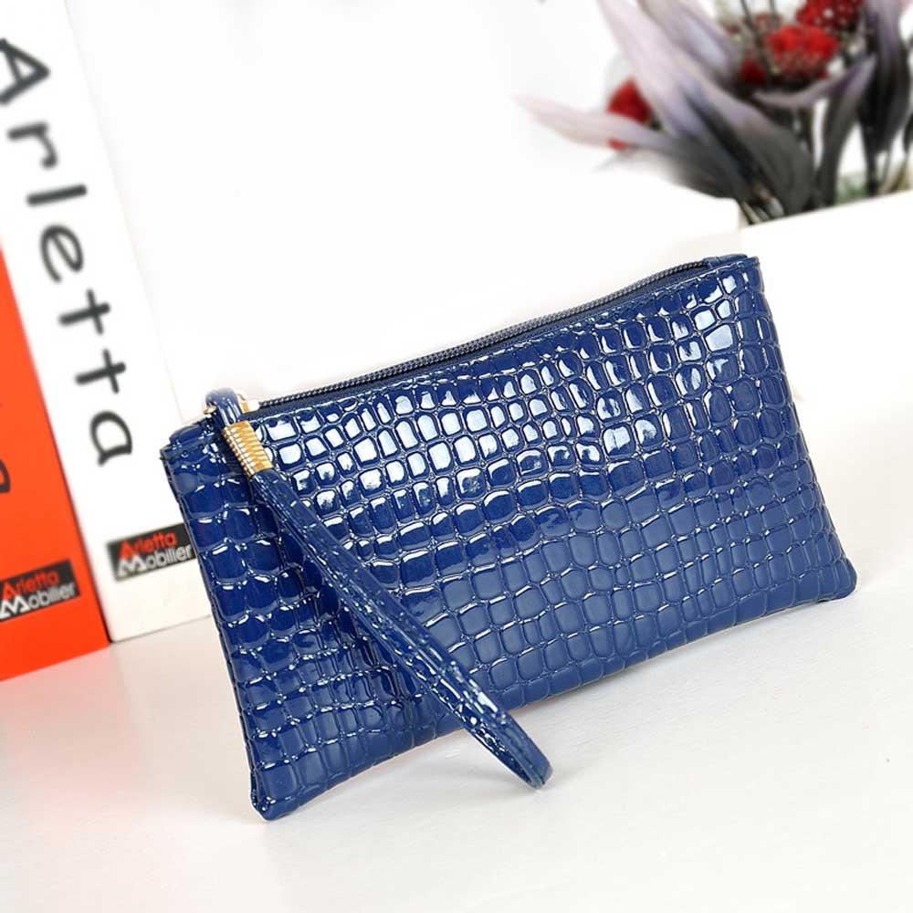 NEW Fabulous Women Crocodile Leather Clutch Handbag Bag Coin Purse free shipping Wholesale