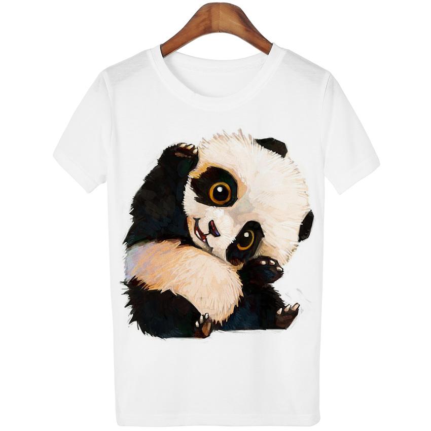 harajuku panda print t shirt women tshirt 2016 summer style short sleeve ladies tops t shirt. Black Bedroom Furniture Sets. Home Design Ideas