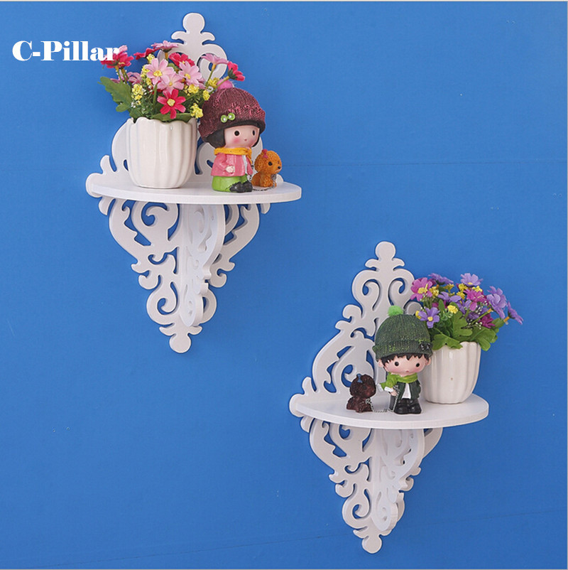 Creative Rural Single Wood Shelf Plastic Rack Bedroom Living Room Wall Decorative Shelves Decorative Waterproof Storage Holders(China (Mainland))