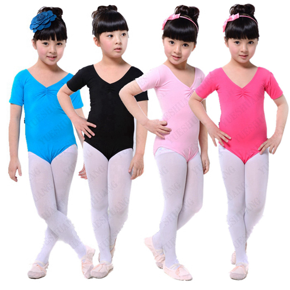 Toddler Girl Short Sleeve Leotard Clothes Ballet Dance Dress Gymnastics Wear(China (Mainland))