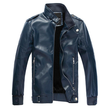 2016 Winter Warm Leather Fleece Jackets For Mens Black Outdoor Male Faux Leather Jackets Suit Collar Male Casual Jackets S1768(China (Mainland))