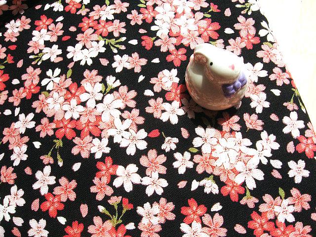 DIY Cotton Linen Fabric for Home Decor Dustproof Covers/Table Cloth Japan Classic Sakura Prints Clothing Fabric 28*22cm(China (Mainland))