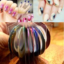 Retail 10 Popular 1mm Nail Striping Tape Line For Nails Decorations Diy Nail Art Self-Adhesive Decal Tools NC124(China (Mainland))