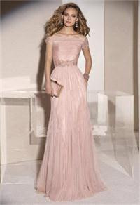 Beading-Floor-length-Short-None-Long-Evening-Dress-2015-Sale-Elegant-Boat-Neck-Pleated-Tulle-And