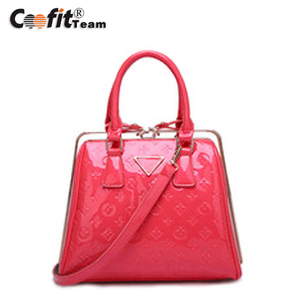 Fashion Women Elegant Pearlescent Lacquer Emboss Casual Shoulder Bag High Quality Women Cross-Body Bag<br><br>Aliexpress