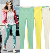 S-XL Plus Size Spring summer Europe and America 2014 new Slim OL pants pencil pants side zip casual long pants #B2059(China (Mainland))