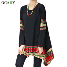 Buy Vintage Print Ethnic Women Shirts Casual Spring Ladies Tops Long Blouses 2016 Chemise Femme Loose Camisa Plus Size Blusas Mujer for $17.93 in AliExpress store