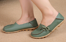 2015 New Casual Loafers Fashion Women Flats Peas Lace Up Comfortable Flat Shoes Woman 10 Colors Size 35-40 XWD756(China (Mainland))