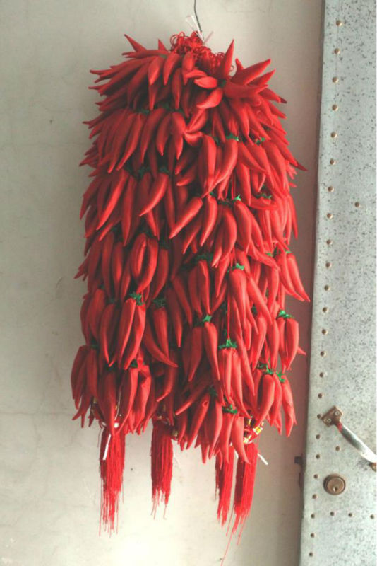25 festive the Chinese knot red pepper marriage room layout festive supplies