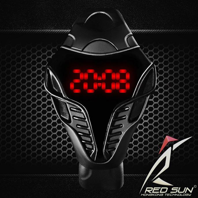 Crazy Hot Sale!!! LED Digital Watches Fashion Men's Sport Wathces, Silicone Man Cobra Shape Dial Wristwatches(China (Mainland))
