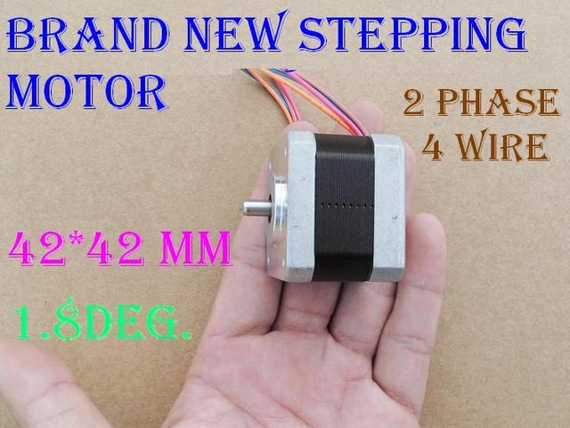 Buy 2pcs Brand New Moons 17hd4416 03n 2 Phase 4 Wire Square 1 8 Degrees 42mm