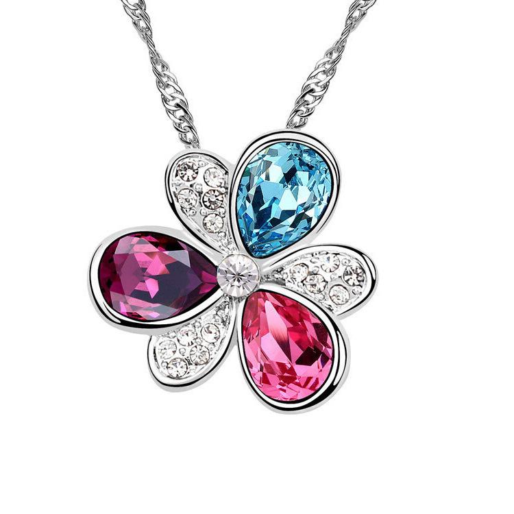 Korea high end crystal jewelry wholesale jewelry crystal for High end fashion jewelry