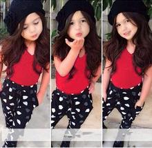 2015 new arrival girls clothing set LNICE children in European style fashion summer T shirt pants