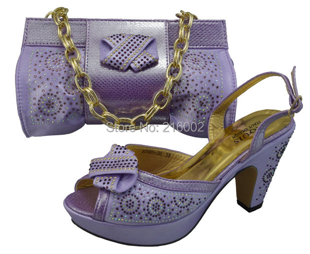 Ladiesu0026#39; Wedding Dress Shoes With Matching Evening Shoulder Bag In LILAC PINK ORANGE GOLD.-in ...