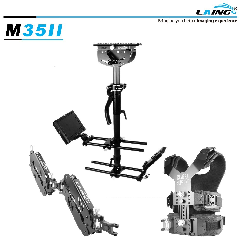 LAING M35II Load 16kg professional Carbon Fiber Video camcorder Steadicam stabilizer Steadycam photography Vest Dual Support Arm(China (Mainland))