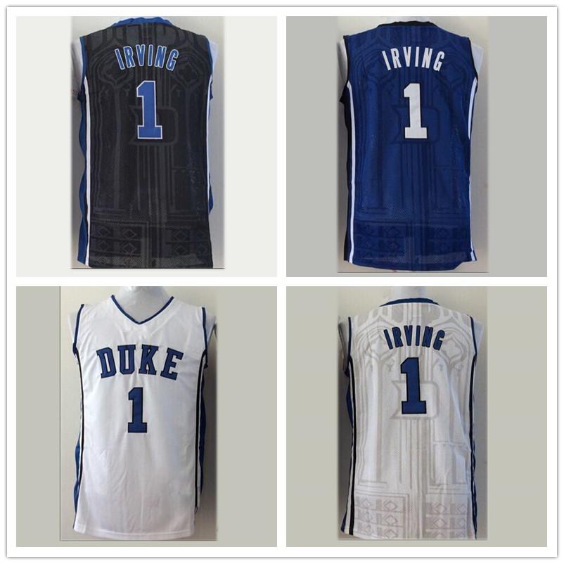 Гаджет  #1 Kyrie Irving DUKE Jersey, NCAA Duke Kyrie Irving Jersey, Stitched College Basketball Jersey Blue White Black Epacket Free None Спорт и развлечения