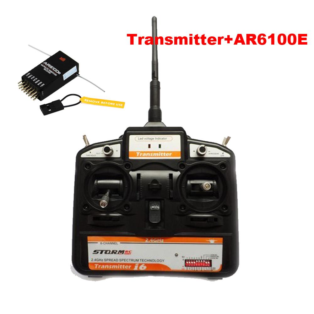 MC Micron 2.4GHZ 6 Channel Transmitter Radio Controller + S600 AR6100 AR6100E 6ch RC Receiver