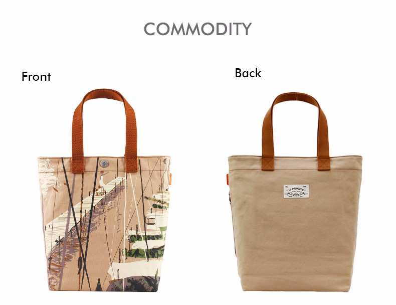 Preppy Style Tote Bag  Ladies Retro Printing Canvas Hand Bag Durable Simple Designer Hand Bag Women Casual Single Shoulder