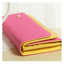 Buy Fashion PU Women Wallet Durable Fuchsia Hit Color Multi-Function Credit Card Ticket ID Card Cash Holder Casual Organizer Bag for $23.68 in AliExpress store