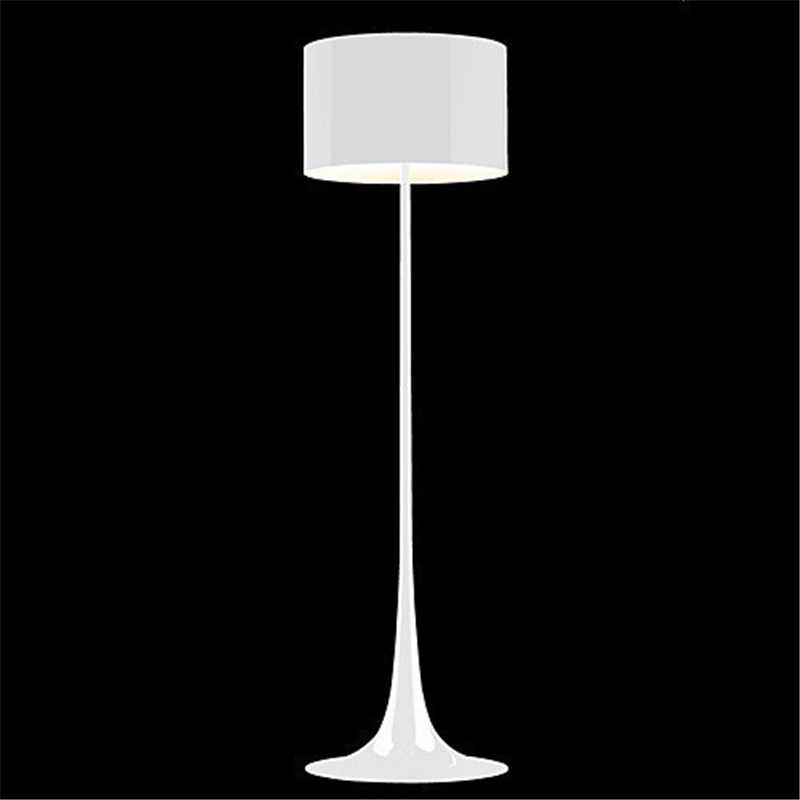 white black modern wrought iron floor lamp living room stand lamps. Black Bedroom Furniture Sets. Home Design Ideas