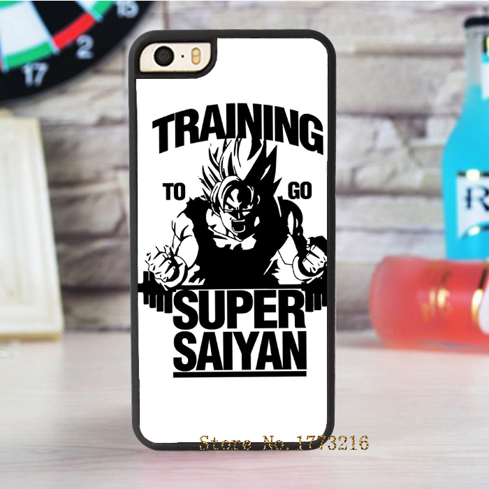 Training to go Super Saiyan Dragon ball Z fashion cover case for iphone 4 4s 5 5s 5c for 6 & 6 plus(China (Mainland))
