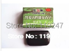 2014 Hot Tourmaline Soap FaceCleaning Hand Body Healthy Care 60g New Free Shipping(China (Mainland))