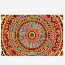 Plush Fabric Custom Retro Mandala Flower Door mats Home decor Carpets Fashion Rugs Freed shipping m#2005(China (Mainland))