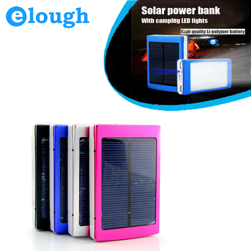 Portable Solar Power Bank Real 7500MAH Dual USB LED Outdoor Camping Light Mobile Phone External Battery Charger Backup Powerbank(China (Mainland))