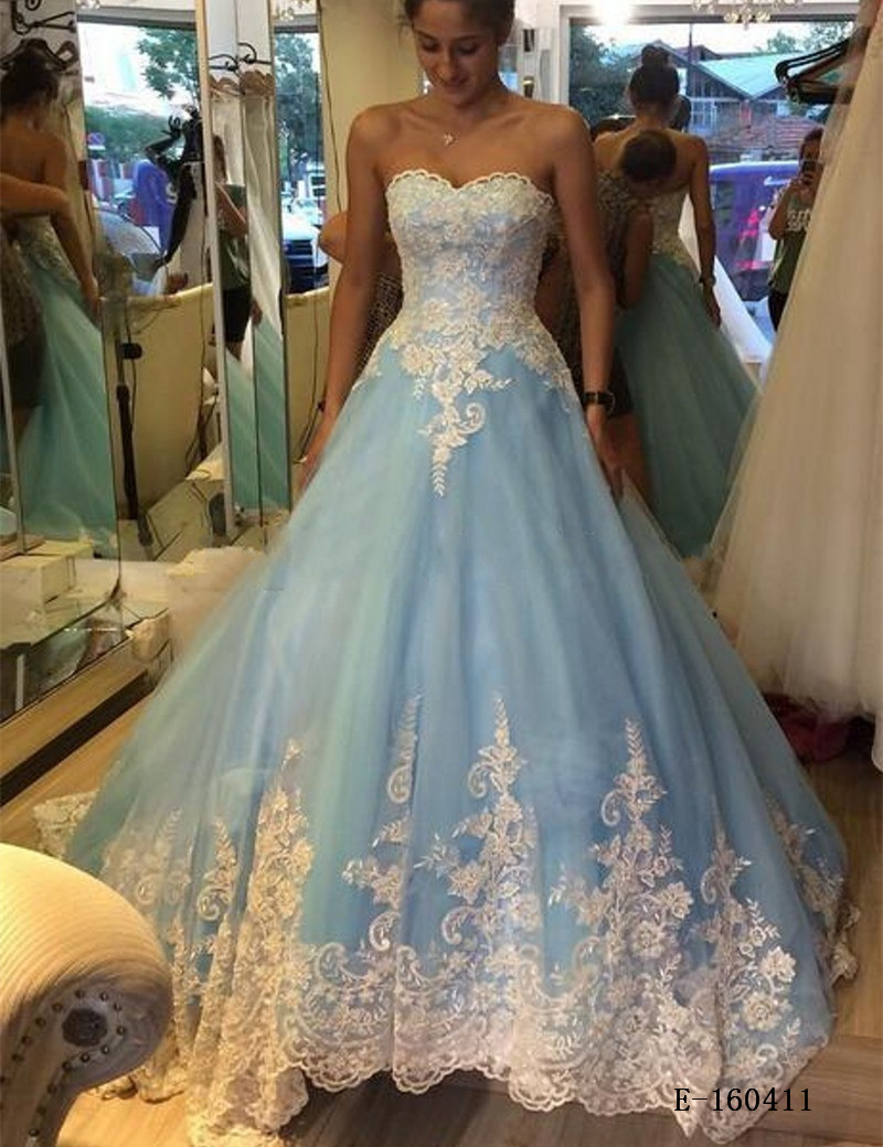 wedding dresses with light blue in it pale blue wedding dress Blue Wedding Lace Dress Gossip Style
