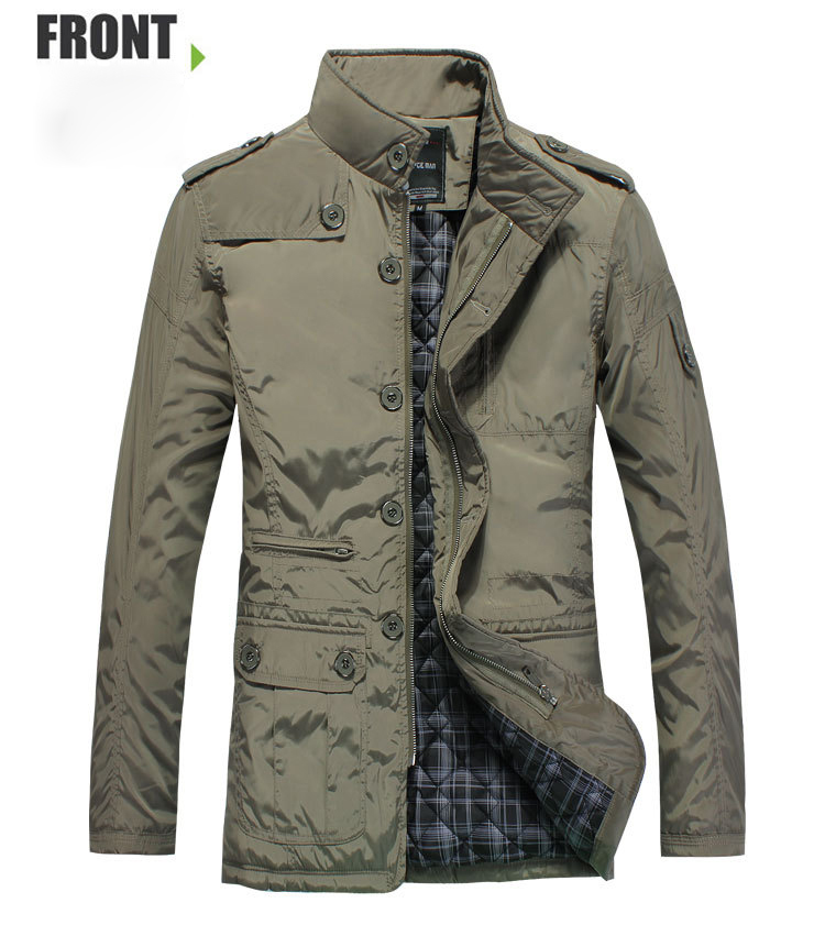 Winter Coat Men Casual Cotton Padded Coat Warm Outdoor Jacket Parka Male Overcoat Stand Collar Fashion
