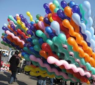 free shipping Balloon ball screw twisted ball latex balloon big ball balloon long balloon dragon ball