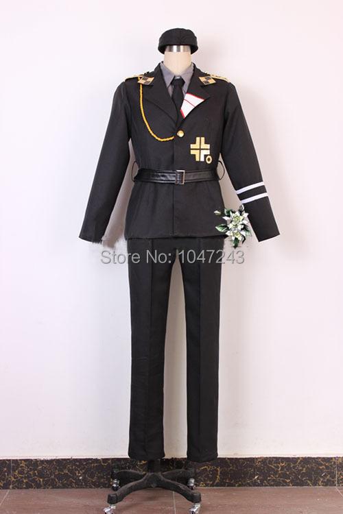 Axis Powers Hetalia APH Prussia Military army uniform Cosplay Costume