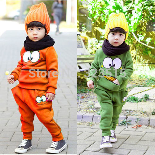 Hot Baby Boys Girls Kid children Sports Wear Tracksuit Outfit Smiling Face Unisex Suit Autumn(China (Mainland))