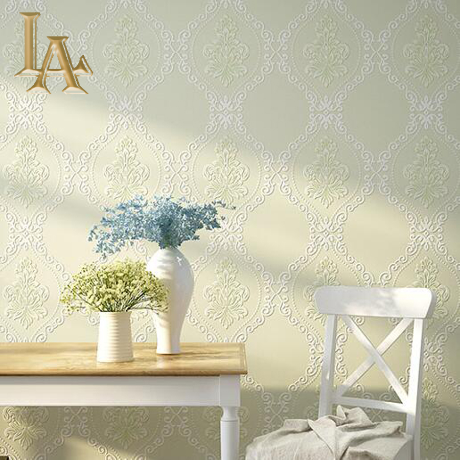 Modern European Simple font b Plaid b font Damask Wallpaper For Walls 3 D Luxury Bedroom