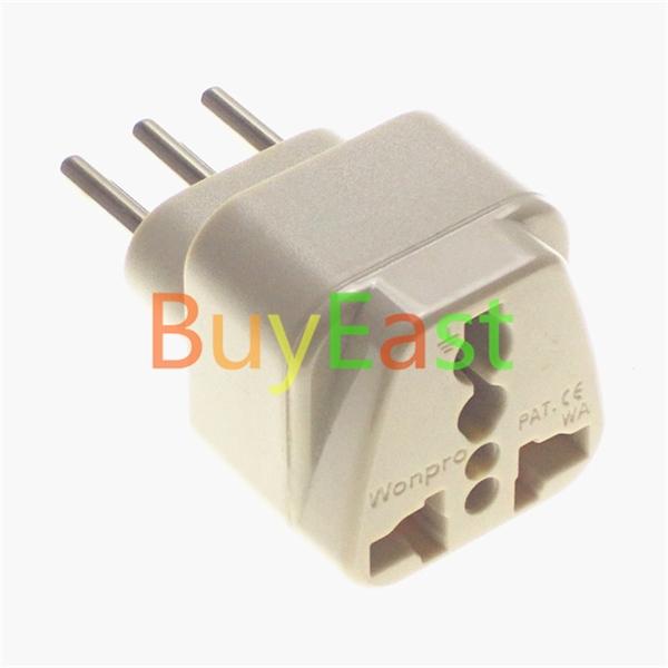 Universal to Italian Travel Adapter Multi Outlet Convert World Plug Wonpro Brand(China (Mainland))
