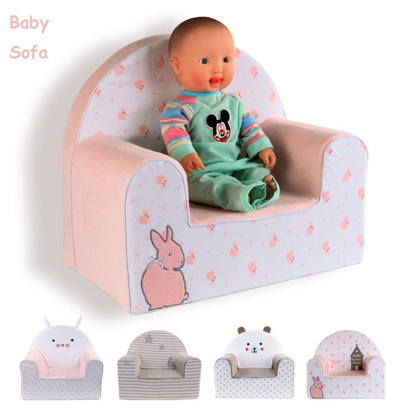 High Quality Baby Chair&Seat Cartoon Sofa Kids Cute Rabbit Bear Plush Toys Furniture(China (Mainland))