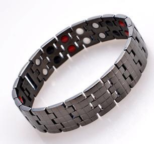 Личная мода черный / золото / серебристый нержавеющей стали 316l магнитного браслет ...