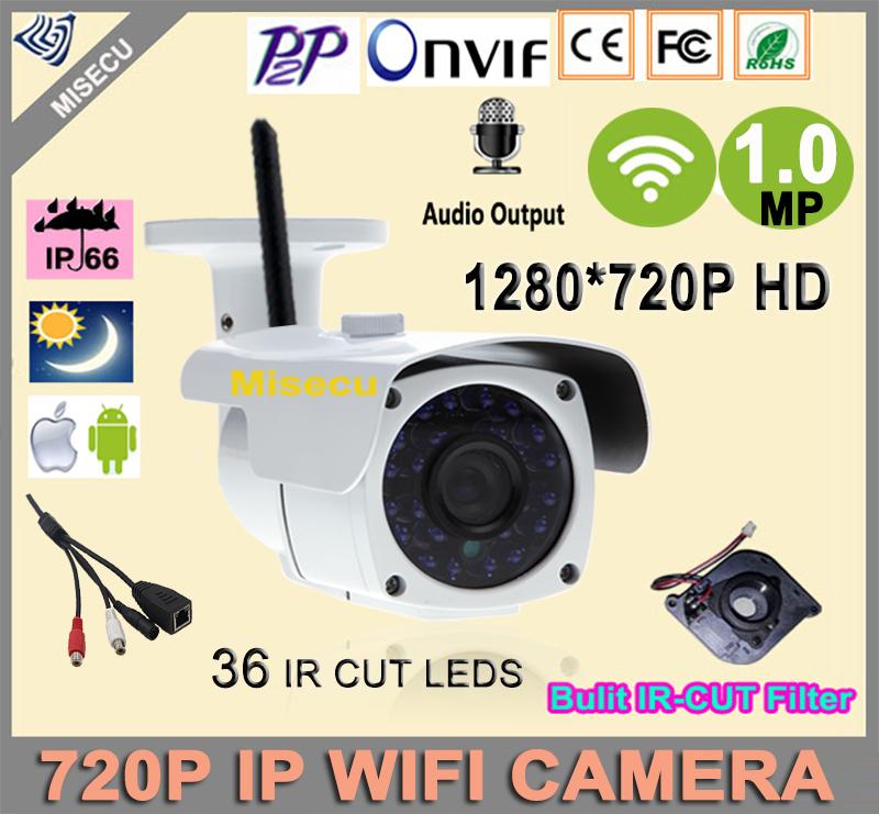MISECU ip camera 720P wifi Audio 1.0MP HD Wireless IP camera 36pcs ONVIF 720P IP Night Vision In/Outdoor Camera Security IP CCTV<br><br>Aliexpress