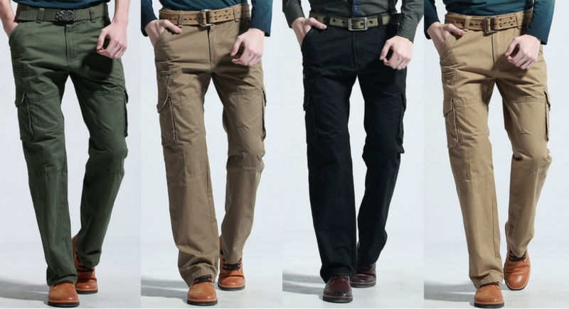 2013 New Men's Casual Spring Autumn Combat Outwork Fitted Pocket Loose Long Fashion Cargo Jeans Pants Trousers Hot - Henry1988 store