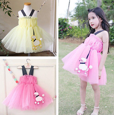 Black Polka Dot Straps Kids Toddlers Girls Princess Sleeveless Dresses(China (Mainland))
