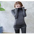 New Women Sport Jackets Running Hoodie sweater Coat Quick dry Long sleeved Sweatshirt Fitness Outerwear Breathable